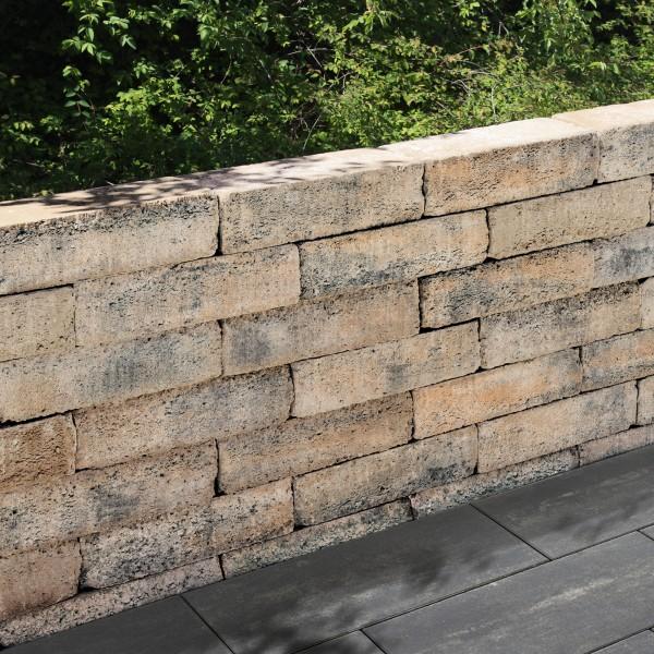 Mauerstein Riso mini Trapezmauerstein muschelkalk