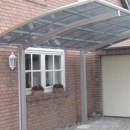 Alu Carport - edelstahl - 4,9 x 2,7 Meter - Portoforte 60 Aluminium Carport