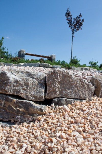 Gartenmauerstein Muschelkalk 8-15x15-25x30-50 cm braun grau