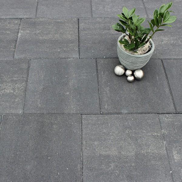 Terrassenplatte Via quarzit 40x40x4 cm Beispiel