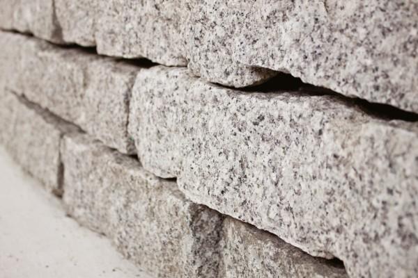 Granit Mauerstein 10x20x40 cm grau Gartenmauer