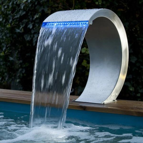 Designwasserfall Mamba mit LED blau