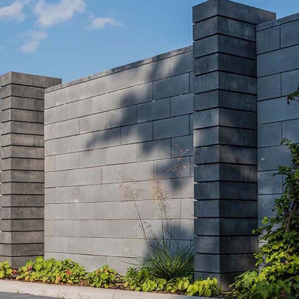 Mauerstein Lisco 45x22,5x16,5 cm basalt mit Glimmer