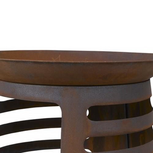 Feuerschale 61 5 Cm Rostoptik Terrassenfeuer Feuerkorb Ebay