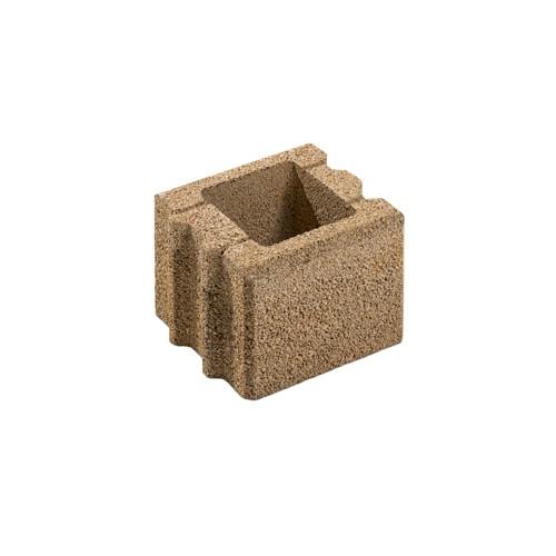 Gartenmauer Sandstein Halbstein | 25x25x20 cm