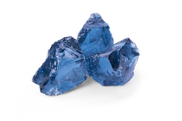 Glas Royal Blue 50-120 mm blau Gabione