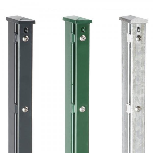 Zaunpfosten Typ XAABD 60x40 inkl Pfostenverstärkung, Auflageböcke, Abdeckleiste
