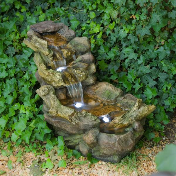 Aspen Mini-Wasserfall mit Wasserreservoir inkl LED