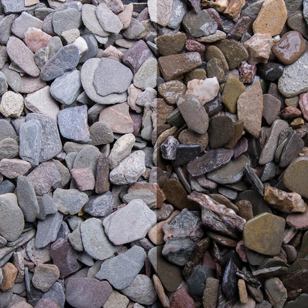Flachkorn 8 - 16 mm nasser und trockener Zustand