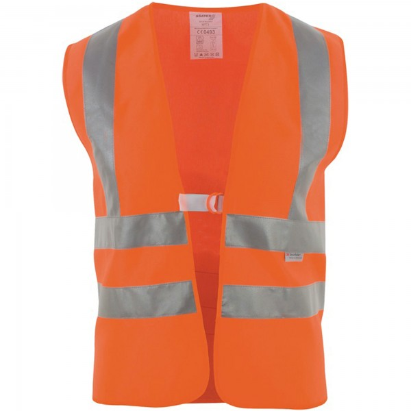 Warnweste mit Schulterstreifen, orange