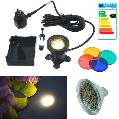 Unterwasserbeleuchtung 4 Farben 30 LEDs - Gartenteich