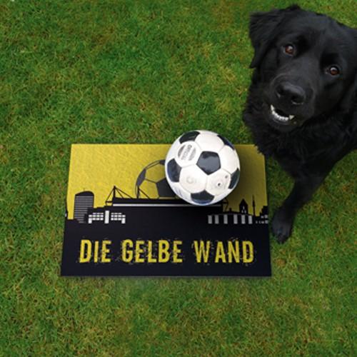 Terrassenplatte 60x40x4 cm Dortmund Fußball