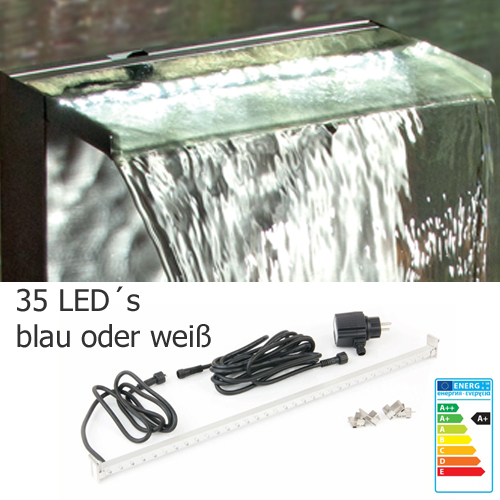 led leiste 60 cm wei oder blau beleuchtung f r wasserfall ab 69 00. Black Bedroom Furniture Sets. Home Design Ideas