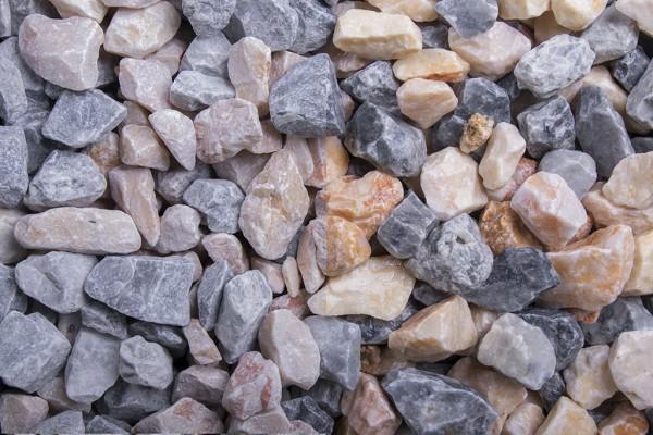 Kristall Florida Splitt 16 - 32 mm trockener und nasser Zustand