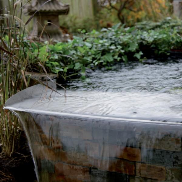 Bachlauf Überlauf-Elemente Gartenteich 30 cm 60 cm