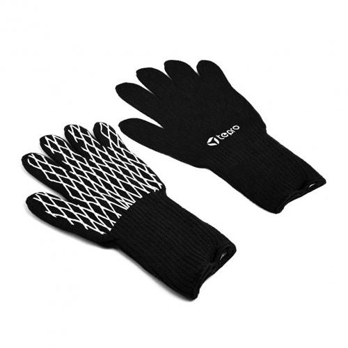 Grillhandschuhe Textil bis 260 Grad - schwarz weiß
