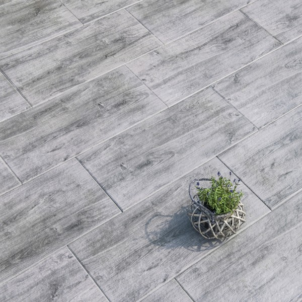 Terrassenplatte Natrua Fino 80x40x4 cm mittelgrau Beispiel