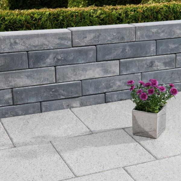 Mauerstein Lisco Pico 40x10x10 cm weiss schwarz