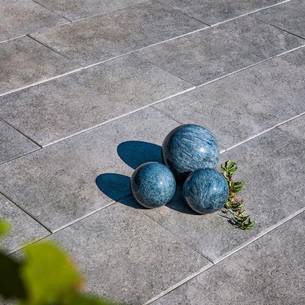 Terrassenplatte Asparo 80x40x4 cm basalt Beispiel