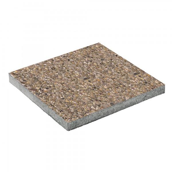 Terrassenplatte Waschbeton 50x50x4 cm Leinekies