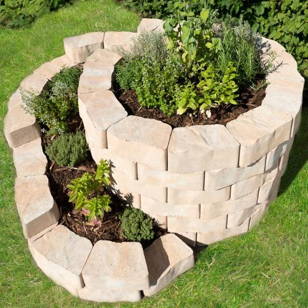 Kräuterspirale Floro Sandstein 160x140 cm