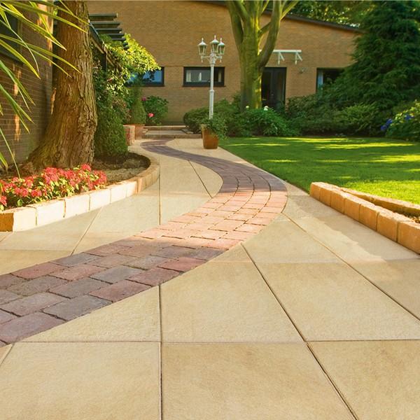 Terrassenplatte Soledo 60x40x4 cm lachs Beispiel