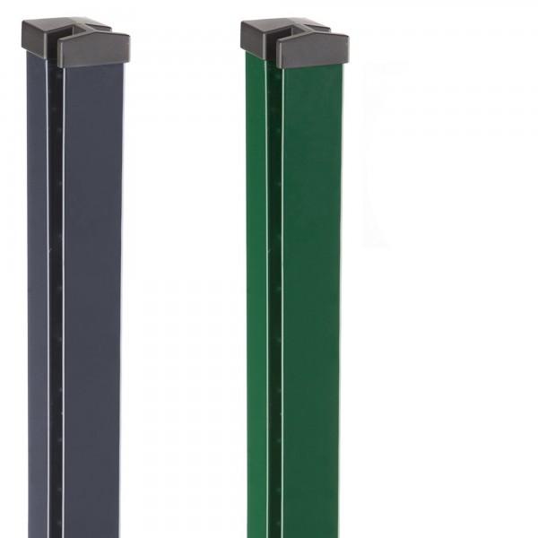 Zaunpfosten HPMOA 70x40 mit Sicherungsbügel und Alukappe