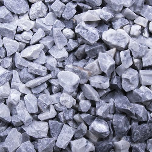 Kristall Blau, 8- 32 mm grau blau weiß Marmor