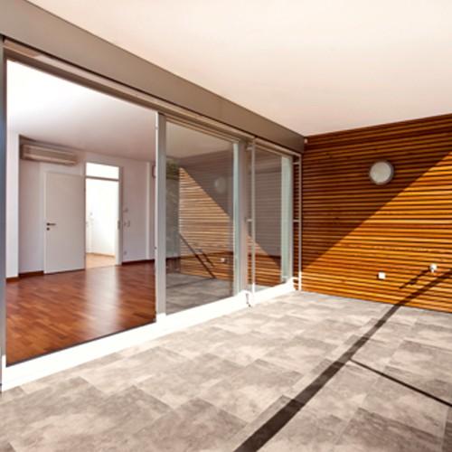 Terrassenplatte 60x40x4 cm quarz grau weiß Marmor Optik