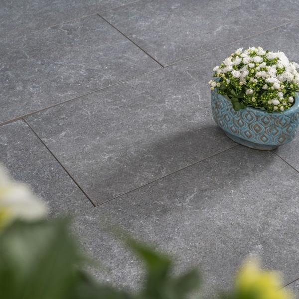 Ceramia Keramik basalt 80x40x3 cm Beispiel