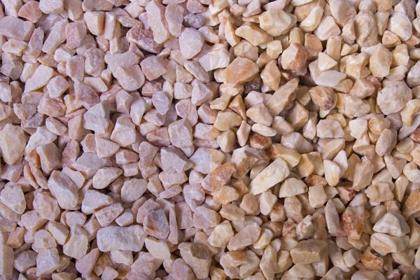 Mandarin Splitt 7 - 12 mm trockener und nasser Zustand