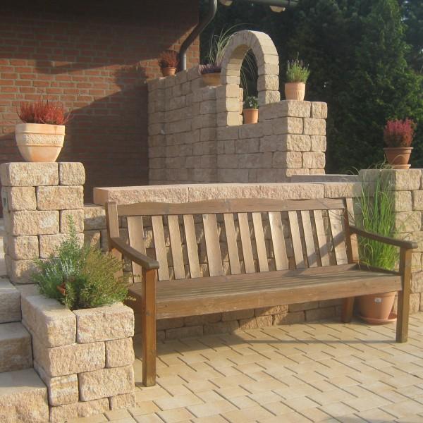 Siola Kombi Mauerstein sandstein Gartenmauer