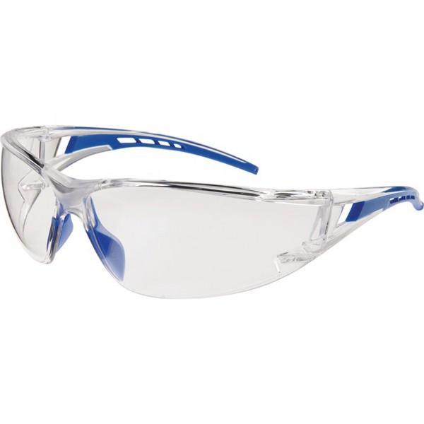 Schutzbrille Falcon 2 EN 166 Bügel blau, Scheibe klar Polycarbonat