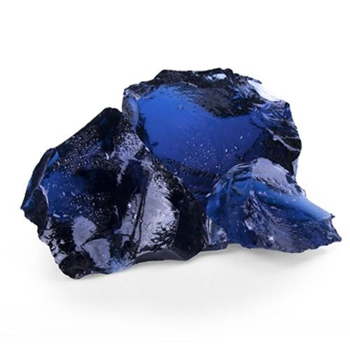Glas Blue 50 - 120 mm blau Steinmauer Gabione