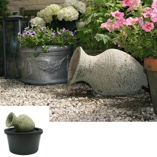 Wasserspiel Amphore Larissa 30x53x34 cm - Keramik Amphore