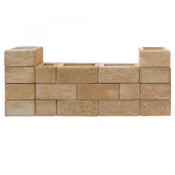 Gartenmauer Sandstein Trockenmauer