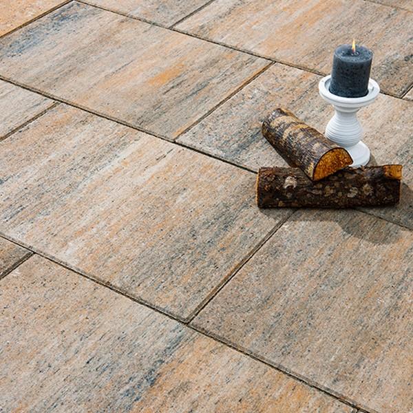 Terrassenplatte Via muschelkalk 60x40x4 cm Beispiel