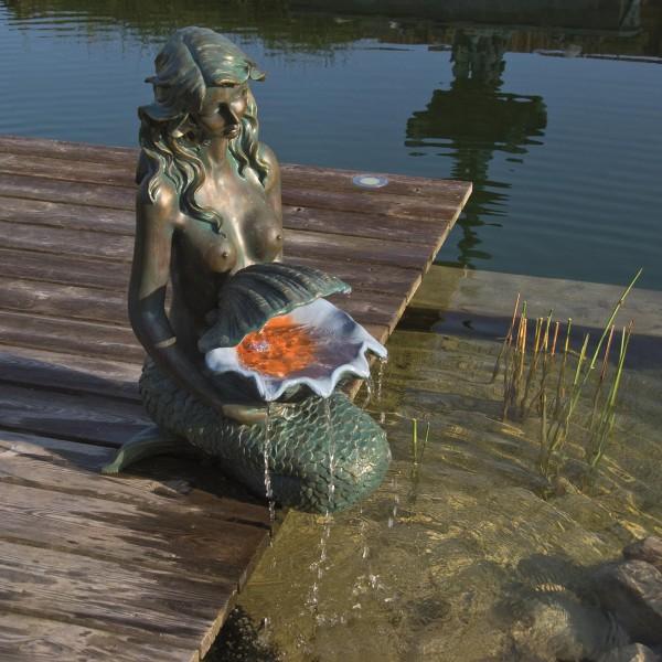 Wasserspiel Oslo Meerjungfrau inkl LED Licht
