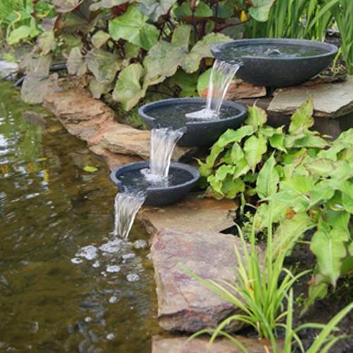 Wasserfall Mistaya 28 x 35 cm / Ø 21 cm - Wasserfall Schalen Gartenteich