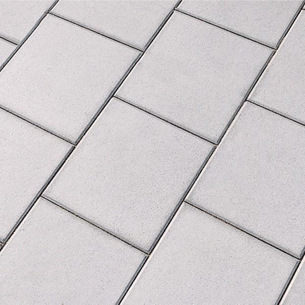 Terrassenplatte Rustica grau weiss 40x40x4 cm Beispiel