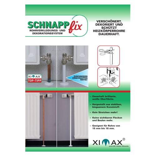Rohrverkleidung für Heizkörper - weiß - Schnappfix von Ximax