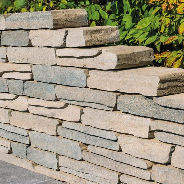 Mauerstein für Gartenmauer Calmont 40x18x8 cm Muschelkalk