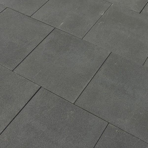 Terrassenplatte Via basalt Glimmer 80x80x5 cm