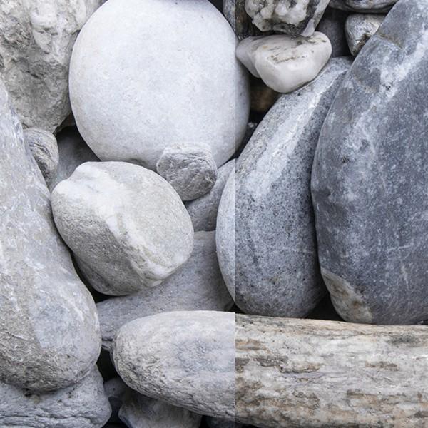 Bunter Gletscherkies 20-50 mm Quarz Zierkies trockener und nasser Zustand