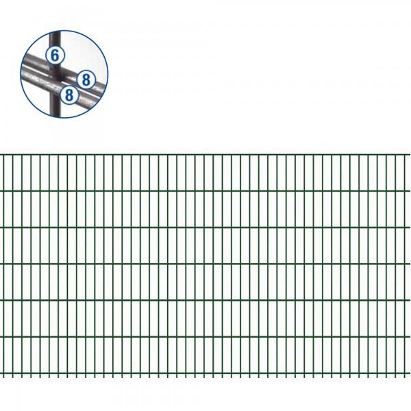 Doppelstab-Sicherheitszaun Max 100 grün