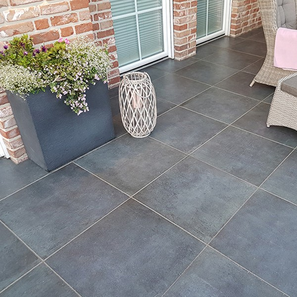 Ceratio concreto basalt 60x60x4 cm Terrassenplatte Keramik