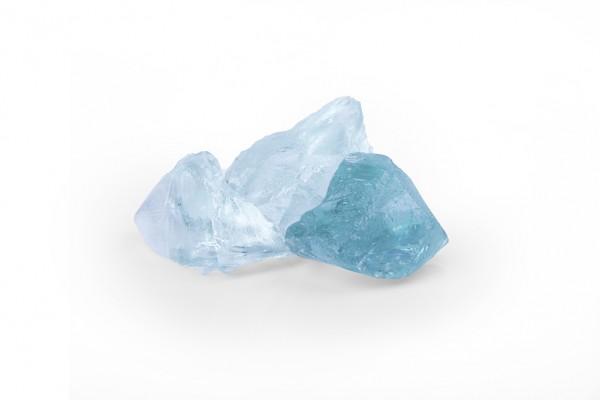 Glas Türkis 50 - 120 mm  blau Steinmauer Gabione