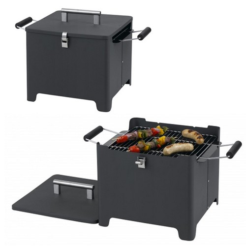 holzkohlegrill mit tragegriff inkl rost und deckel picknickgrill cube ab 46 80. Black Bedroom Furniture Sets. Home Design Ideas