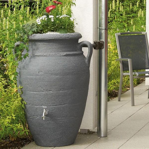 Regenwasserspeicher Antik Amphore dark granite 250 L
