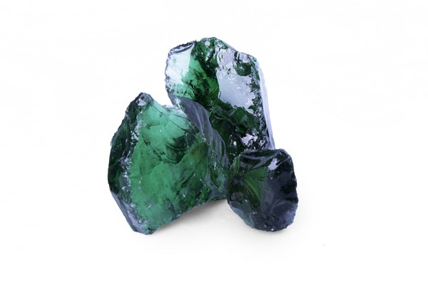 Glas Green 50 - 120 mm  grün Steinmauer Gabione